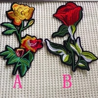 dyed polyester yarn embroidery flower iron on patch bag clothes shoes colorful patchesww170419b