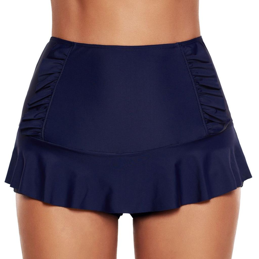 2019 verano mujeres Bikini Bottoms Swim Briefs Stretch pantalón falda playa vestido playa cubrir Albornoz de baño de plage Dropshipping
