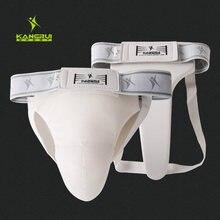 High Grade White Taekwondo Groin Guard Men Women Kick Boxing/Karate/Muay Thai/Wushu/Sanda Training Crotch Protector Size S M L