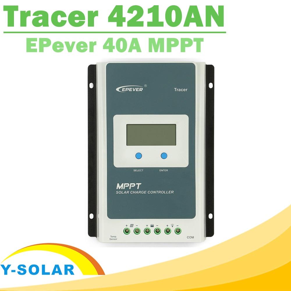 Контроллер Заряда MPPT 40A, Tracer 4210AN, 12 В, 24 В, автоматический рабочий ЖК-дисплей для макс. 100 В входного сигнала RS485, Коммуникационный солнечный регулятор EPever