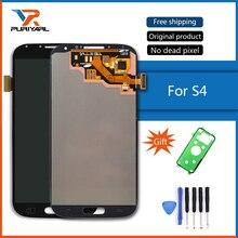 100% Orijinal Süper AMOLED samsung LCD Galaxy S4 lcd ekran GT-i9505 i9500 i9505 i9506 i9515 i337 dokunmatik ekran digitizer