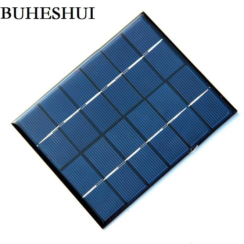 BUHESHUI 6V 0.33A 2W Mini Solar Panels Solar Power 3.6V Battery Charger Solar Cell 136*110*3 MM 10pcs/lot Drop Free Shipping