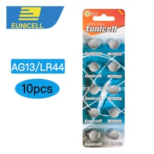 10 stücke LR44 Batterie AG13 Taste Cell-münze Uhr Batterie 1,5 V L1154 303 357 Batterie RW82 SR1154 SP76 A76 357A SR44 AG 13 Bateria