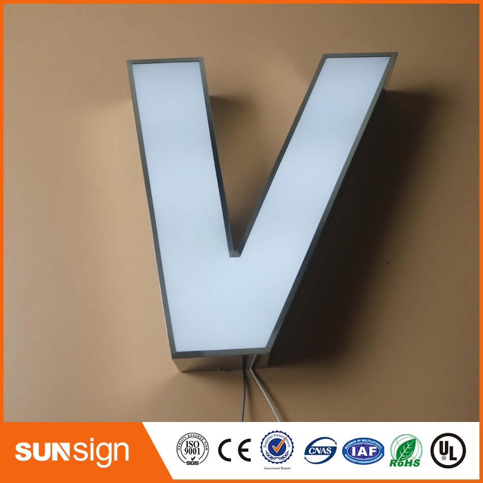outdoor led frontlit letter channel sign недорого