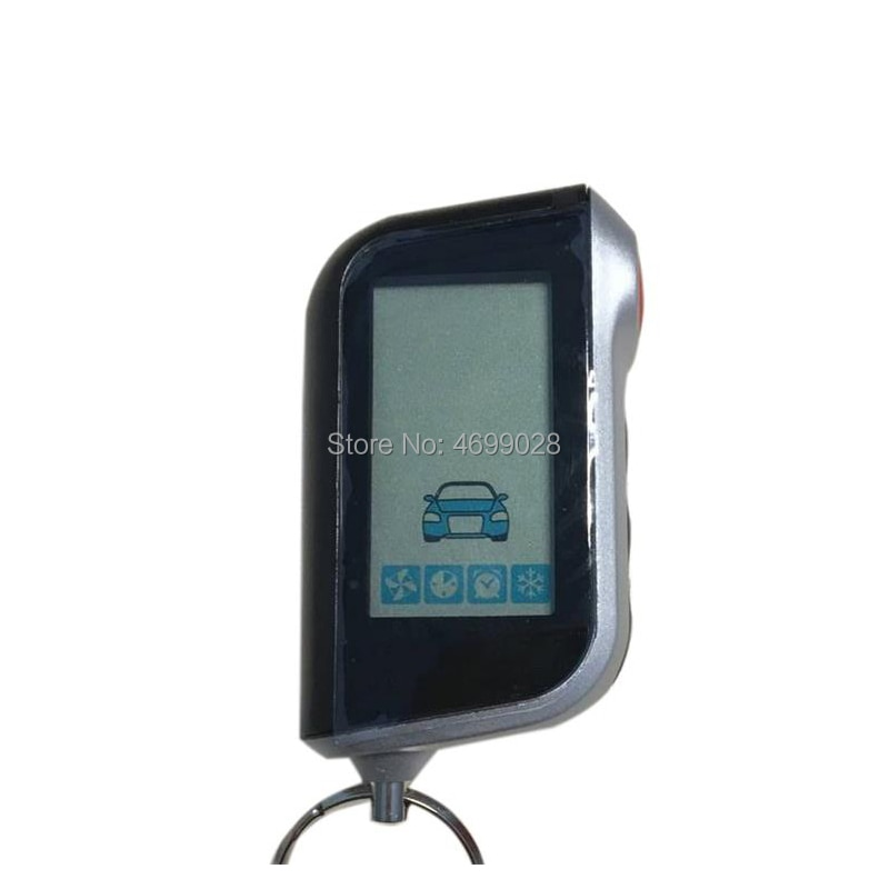 A93 Vertical LCD Remote Control Keychain for Russian Starline A93 Two Way Car Burglar Alarm System K