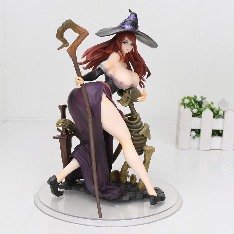24 cm Anime japonés figura orquídea semilla dragón corona bruja PVC figura de acción modelo juguetes regalo