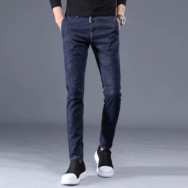 Длинные брюки, джинсы, Мужские повседневные джинсовые брюки, мужские облегающие царапинные длинные брюки, джинсы, брюки, модные джинсы, хлоп...