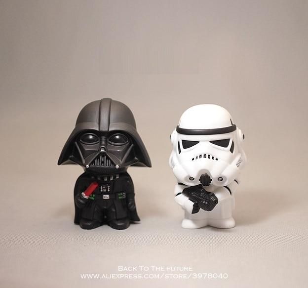 Disney Star Wars 10cm Anime Figure doll Action Force Awakens Black Series Darth Vader toys model For children gift