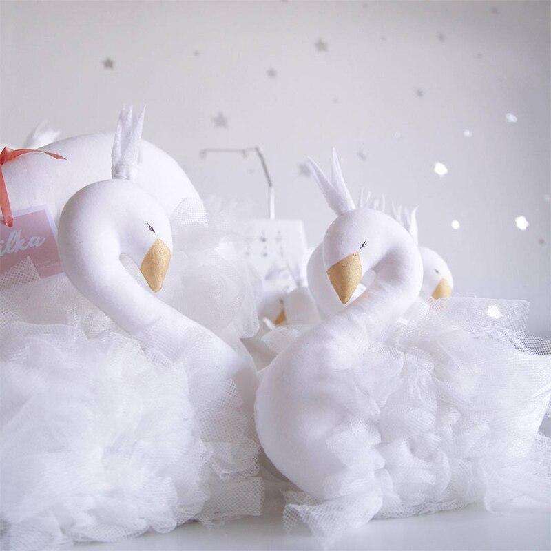 Игрушки для сна милая Корона лебедь подушка украшение детской комнаты детские