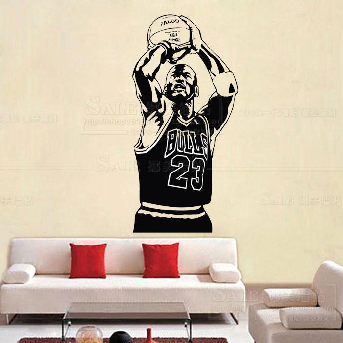 New design Michael Jordan Wall Sticker Vinyl DIY home decor Basketball Player
