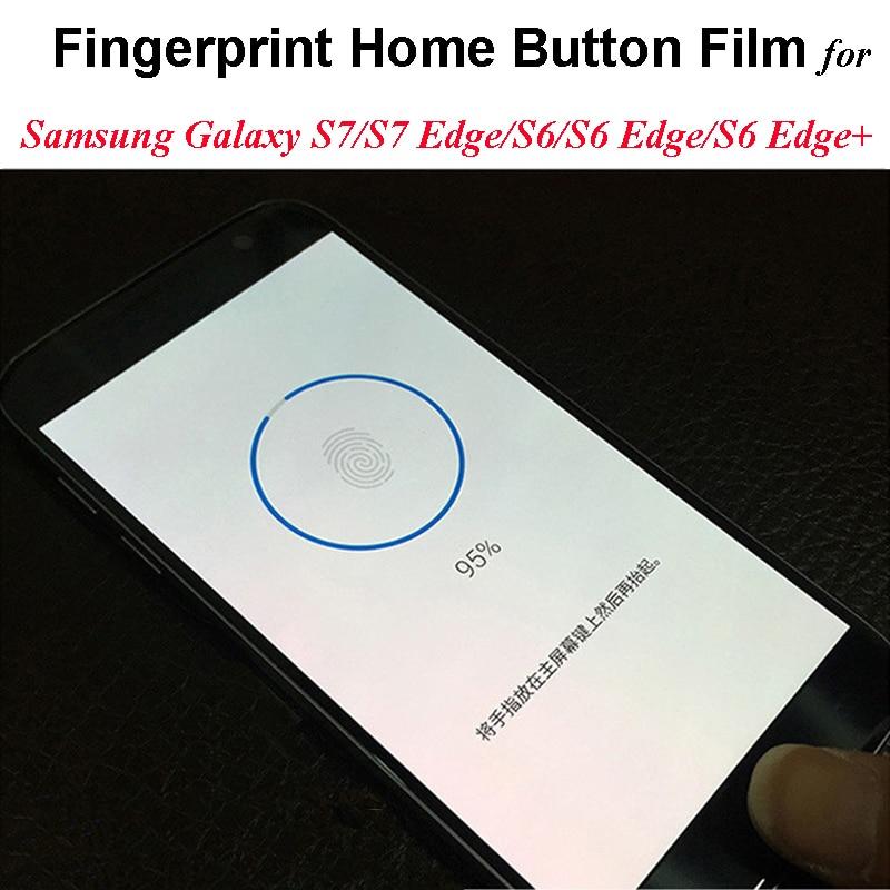 Película protectora de huella dactilar transparente para Samsung Galaxy S7/S7Edge/S6/S6 Edge + pegatina de botón de inicio de huella digital