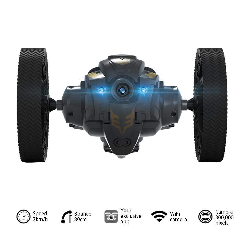 RCtown TAW-C6 WiFi FPV Cámara RC salto coche alto acrobacias coche con música LED faros RC rebote regalo para el coche de juguete