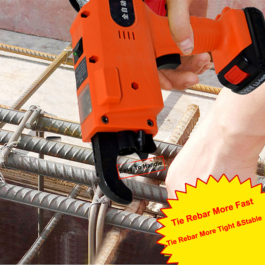 D2 12V Automatic Cordless Rechargeable Lithium Battery Electric Rebar Tying Machine Tool Set For Building Project Rebar Tier enlarge