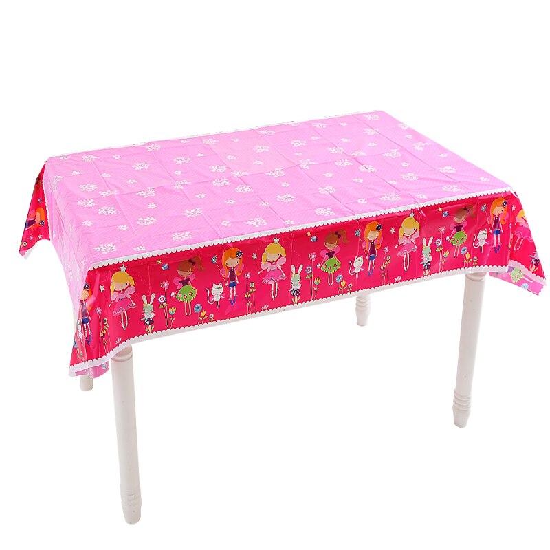 Mantel desechable de fiesta de cumpleaños de princesa Omilut Baby Shower Girl 1th cumpleaños fiesta decoración rosa princesa fiesta decoración Supplie