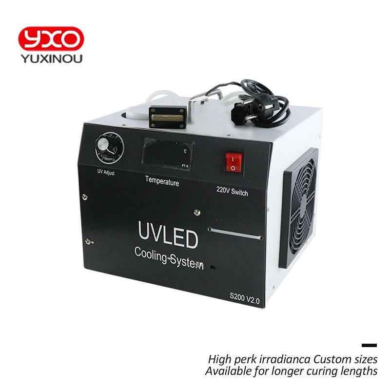 1 قطعة 160 واط 2 رئيس LED UV LED علاج نظام ل طابعة إبسون DX5 طباعة UV رئيس UV طابعة مسطحة ، UV الغراء علاج