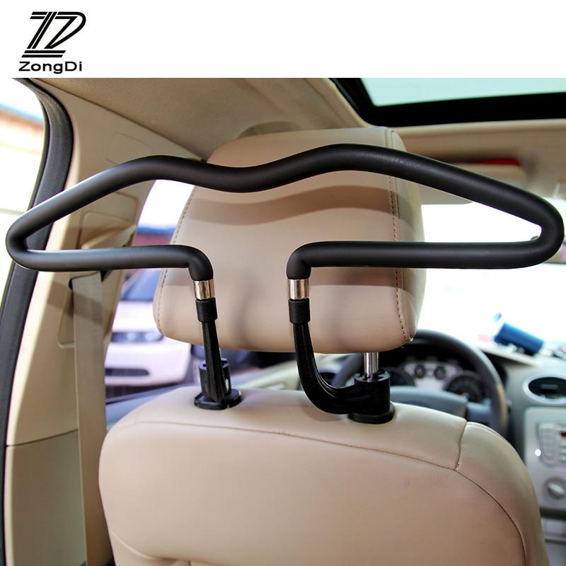 Percha de coche ZD, perchero para ropa, reposacabezas inoxidable para Peugeot 307 206 407 Citroen C4 C5 Honda Civic Accord CRV Lada Vesta Granta