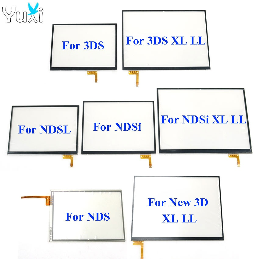 YuXi Touch Screen digitizer glass Display Touch Panel Replacement For Nintendo DS Lite For NDSL NDSi XL for New 3DS XL недорого