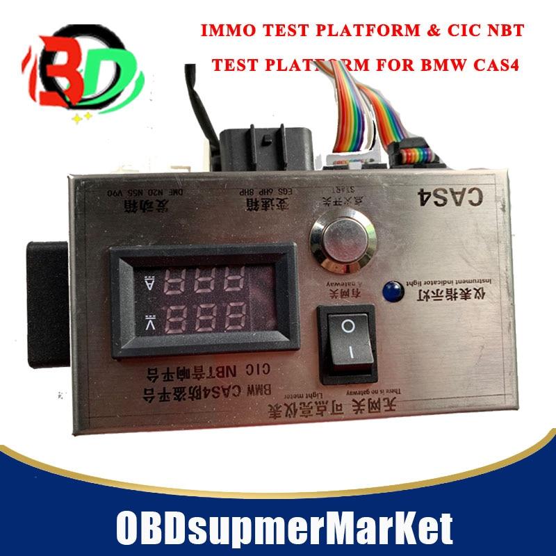 Plataforma de prueba IMMO y plataforma de prueba CIC NBT para BMW CAS4, plataforma de prueba em bdc con conector de caja de cambios