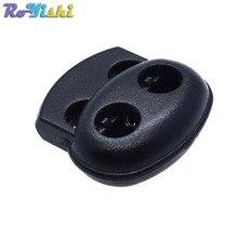 Bouchon de verrouillage de cordon en plastique   Clip à bascule noir 100mm * 19mm * 17.5mm 5.6 pièces/paquet