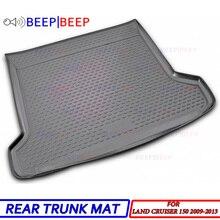For Toyota Land Cruiser Prado 150 2009-2013 car trunk mat iner boot cargo tray floor carpet boot cargo rear styling decoration