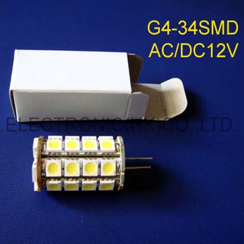 Bombillas led de alta calidad AC/DC12V G4led, bombillas led GU4 12V, luz led G4 de cristal (envío gratis 2 unids/lote)