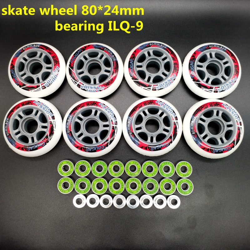 Free shipping roller skates wheel 64 mm 72 mm 76 mm 80 mm 82 A 85 A 8 pcs / lot cougar wheel