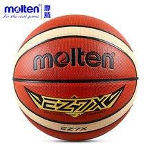 كرة السلة المنصهر الأصلي EZ7X/EZ6X/EZ5X من علامة تجارية عالية الجودة من مادة البولي يوريثان المنصهر الأصلية مقاس 7/مقاس 6/5 كرة سلة