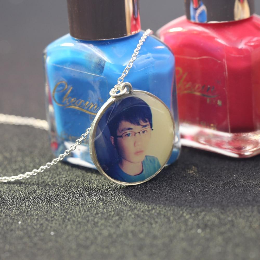 Colgantes de fotos personalizados al por mayor, foto de collar personalizada de tu hijo, mamá, papá, abuelo, amante, regalo para la familia