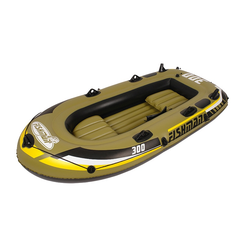 Intex Excursion 2-4-Person Inflatable Boat Set with Aluminum Oars and High Output Air Pump (Latest Model)