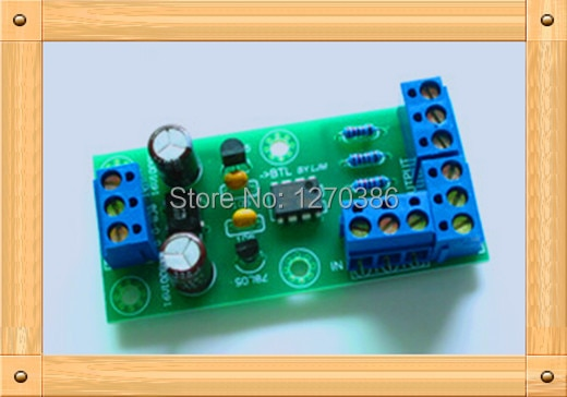 Free Shipping!!!  BTL bridging signal adapter plate / XLR balanced transfer processor / amplifier bridging plate