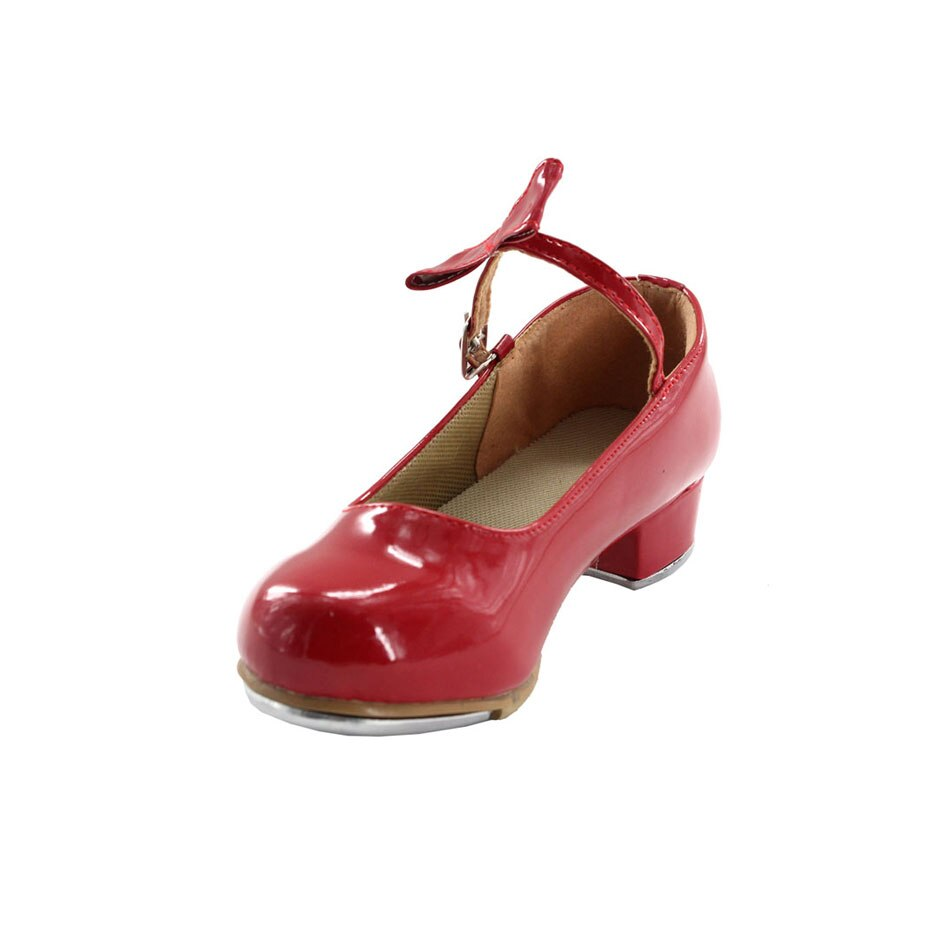 MSMAX YZ-07 الأطفال أحذية الفتيات الأحذية الصنبور براءات الاختراع والجلود كعب مربع المعلم المرحلة الحنفية أحذية للأطفال