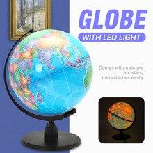 25 CM Dünya dünya küresi Harita Coğrafya LED Aydınlatmalı Masaüstü Dekorasyon için Eğitimi Ev Ofis Yardım Minyatürleri Çocuklar Hediye