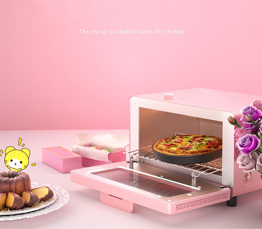 Horno eléctrico doméstico Smart Kitchen Mini horno hornear Multi-función perilla Mini horno de vapor KR-10N-16D