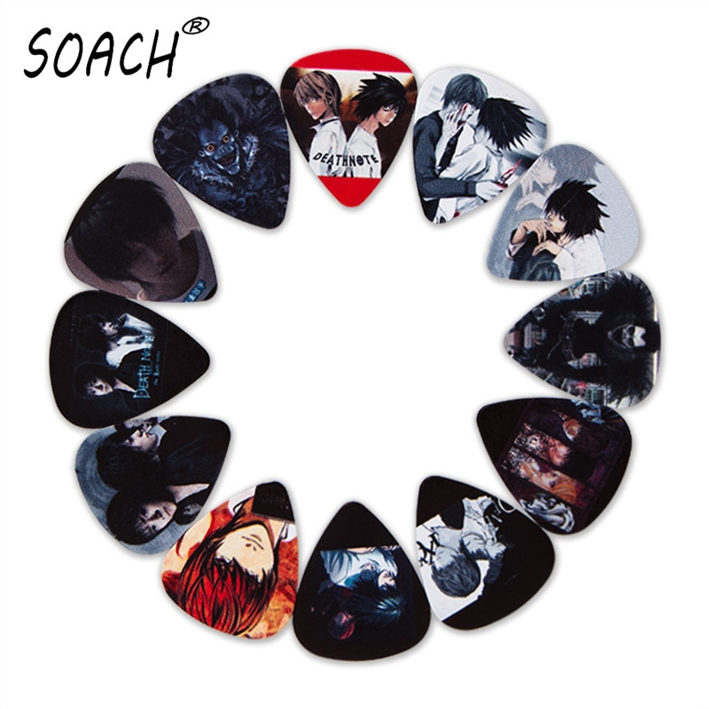 SOACH 10pcs 3 kinds of thickness new guitar picks bass Japanese Anime pictures high quality print pi