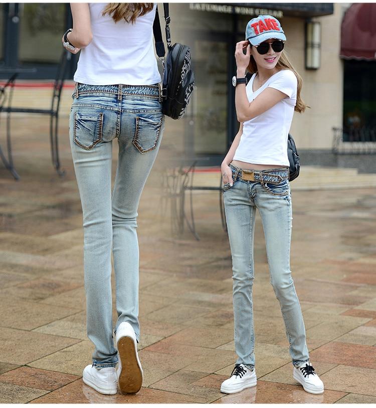 Новые весенне-осенние новые хлопковые женские эластичные брюки-карандаш большого размера для девушек джинсы одежда