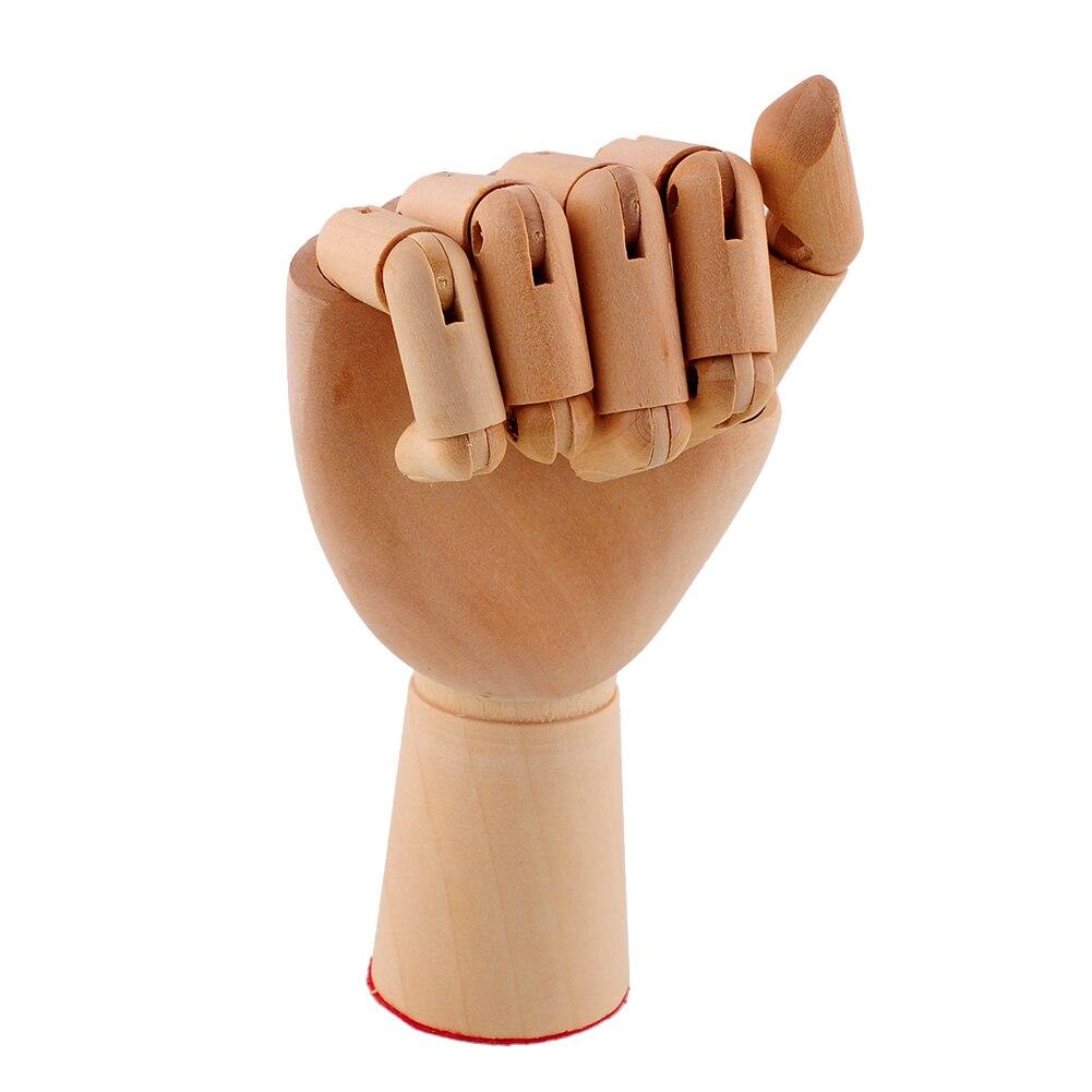18X6cm деревянный артист сочлененный правая рука подарок художественная модель альтернатива руки гибкий манекен для рисования деревянная скульптура манекен