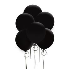 10 pcs 12 inch 라운드 블랙, 오렌지 라텍스 풍선 두꺼운 3.2g 웨딩 홈 파티 장식 매달려 할로우 장식 풍선 용품
