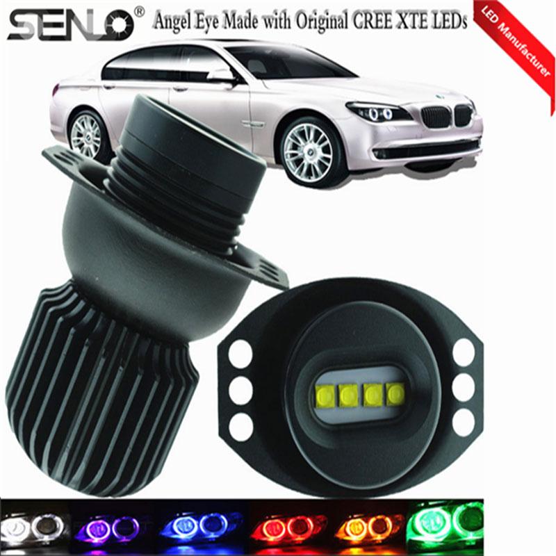 De alta potencia de 40 W E90 E91 LED Ojos de Ángel DRL blanco 6000 K faro para BMW 325i 325xi 328i 328xi 330i E90 E91 2006 2008 Luz de marcador