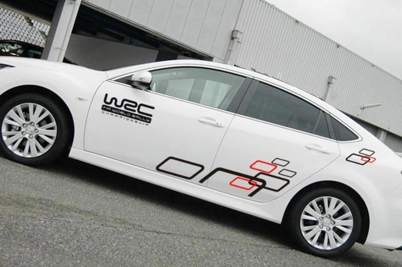 Un conjunto de dos lados campeonato mundial de Rally WRC cubos sencillos Vip cuerpo de coche PVC pegatina calcomanías de carreras deportivas Decoración