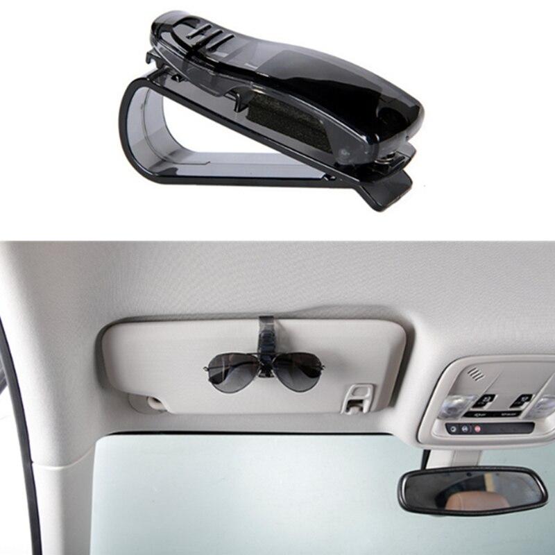 Accesorio para coche gafas de sol visera Clip sujeta billetes soporte para Alfa Romeo 147 156 Alfetta 159 Berlina Brera Mito Giulia