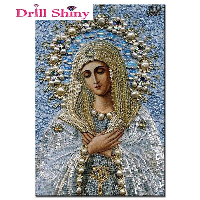 Cuadro de punto de cruz con diamantes 5D para decoración del hogar, bordado de diamantes de imitación, bordado de religión, Diy brillante