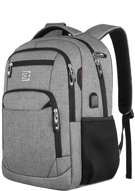 Los hombres y las mujeres 15,6 pulgadas mochila portátil de viaje Anti robo Slim Durable de puerto de carga USB mochila de colegio de bolso de la computadora