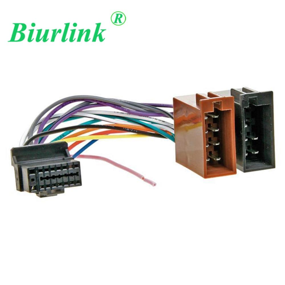 Biurlink estéreo de coche 16Pin (24x10mm) arnés para ISO adaptador de Cable macho para pionero DEH Serie P (seleccione los modelos)