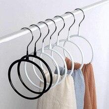 Porte-anneau en métal   Revêtement caoutchouc antidérapant blanc noir, support pour ceinture à cravate et serviette, 10 pièces/lot