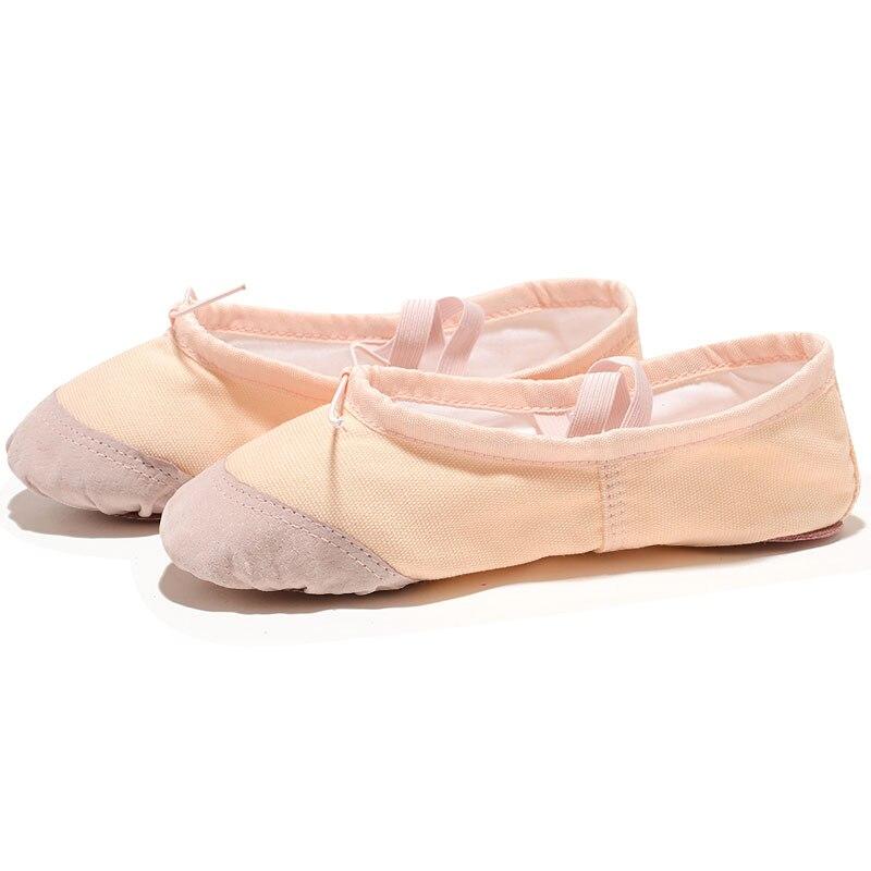 USHINE EU22-45 Leder Kopf Yoga Hausschuhe Lehrer Gym Indoor Übung Leinwand Weiß Rot Tanz Schuhe Für Kinder Mädchen Frau