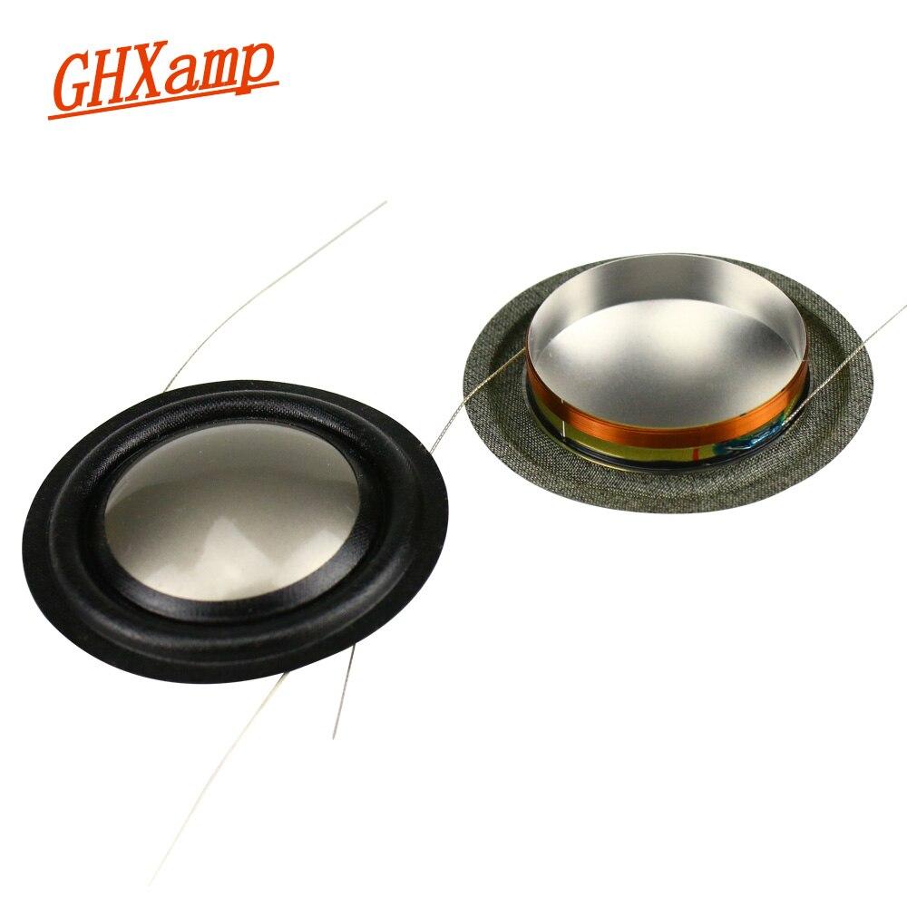 GHXAMP 25,9 мм твитер звуковая катушка титановая пленка 8ohm запчасти для ремонта динамика 26 ядер для B & W спикера медная алюминиевая катушка 2 шт