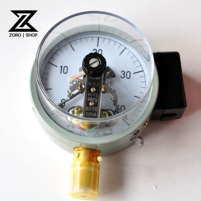 Rango de manómetro de alta calidad 0-01mpa medidor de presión de contacto eléctrico YX-100