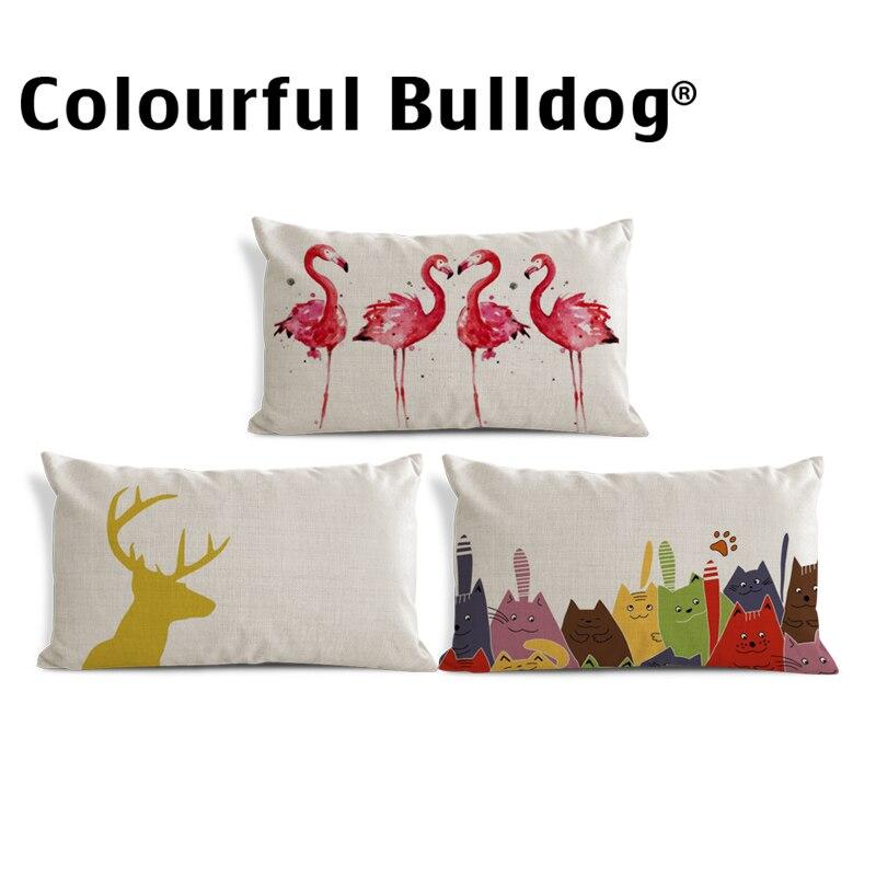 Наволочка для подушки с геометрическим рисунком животного, наволочка для подушки с изображением кота, декоратор, греческий ключ, наволочка ...