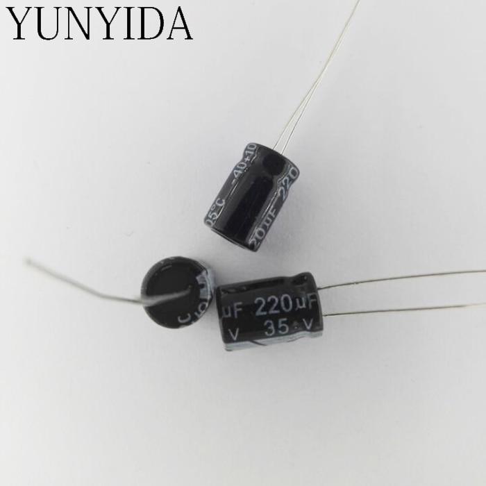 35 V 220 UF 20 piezas condensador electrolítico de aluminio