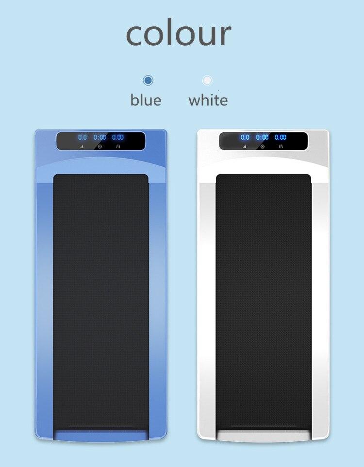 LED hd tapis roulant maison tablette intelligente mini simple pliant super silencieux intérieur fitness marche machine
